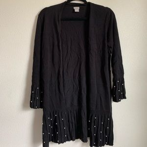 Chico's Black with Pearl Sweater